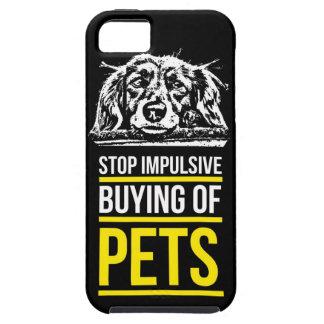 ペットの停止衝動的な購買 iPhone SE/5/5s ケース
