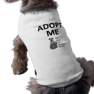 """ペットの為のために""""私を""""犬のTシャツ採用して下さい ペット服"""
