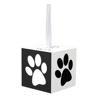 ペットの足のプリントのデザインの立方体のオーナメント キューブオーナメント