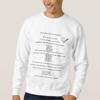 ペットは文法または句読点ワイシャツをいら立たせます スウェットシャツ