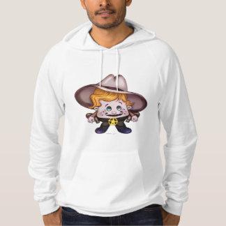 ペットカウボーイカリフォルニアフード付きスウェットシャツのスエットシャツ パーカ