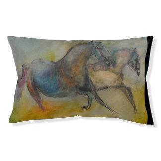 ペットコレクション-抽象的で多彩な馬ペットベッド