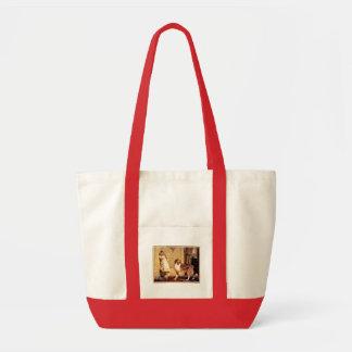 ペットシェットランド・シープドッグを持つ女の子 トートバッグ