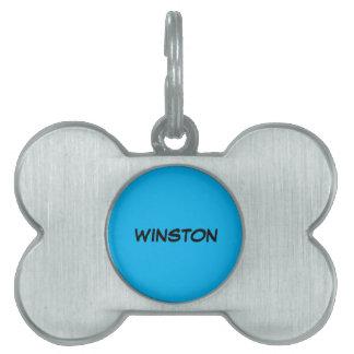 ペットタグ一流のWinston ペットネームタグ