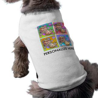 ペットティー-ポップアートのクッキー ペット服