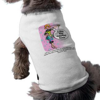ペットティー-水玉模様のマルティーニの花型女性歌手 ペット服