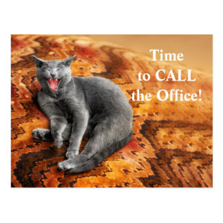 ペットビジネス猫のアポイントメントのメモ ポストカード