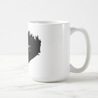 ペットマグ-猫のシルエット--を採用して下さい コーヒーマグカップ