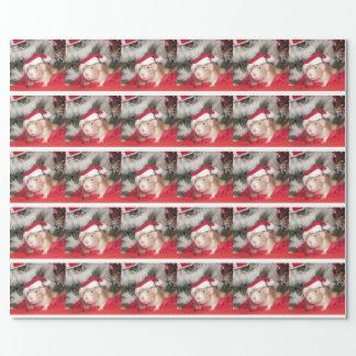 ペットラットのサンタの樺の木の休日の包装紙 包装紙