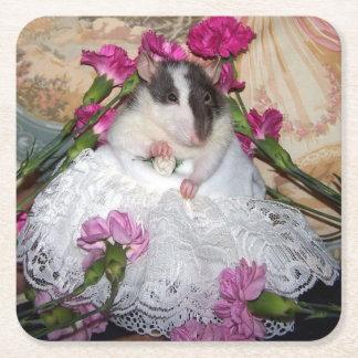 ペットラットの花嫁のTrudyのコースター スクエアペーパーコースター