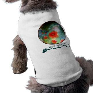 ペットワイシャツの``ケシGrassland´´は犬の名前を加えます ペット服