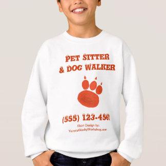 ペット付き添い及びドッグウォーカーの足のプリント スウェットシャツ