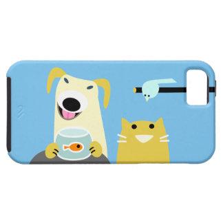 ペット付き添い犬猫の鳥及び魚 iPhone SE/5/5s ケース