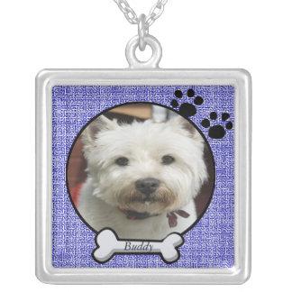 ペット写真のネックレス シルバープレートネックレス