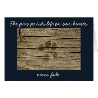 ペット哀悼の言葉の悔やみや弔慰の損失 カード