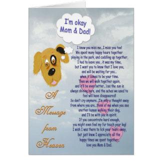 ペット悔やみや弔慰か犬お母さん及びパパ カード