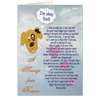 ペット悔やみや弔慰または犬男性の所有者 カード