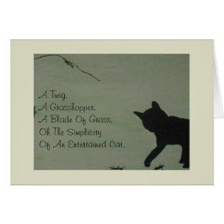 ペット悔やみや弔慰カード-猫 カード