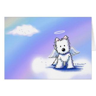 ペット損失の悔やみや弔慰のWestieの天使 カード