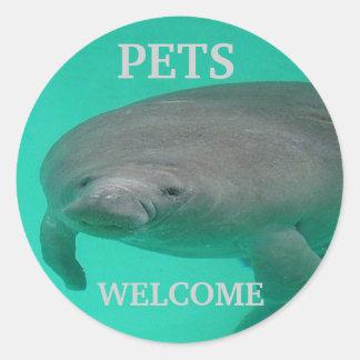 ペット歓迎 ラウンドシール