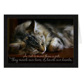 ペット猫の悔やみや弔慰カード、ペットの損失 カード