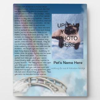 ペット記念の虹橋プラク-個人化して下さい フォトプラーク