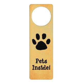 ペット警告のドアの印 ドアノブプレート