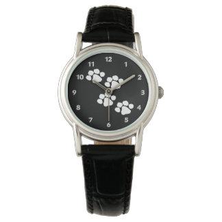 ペット足のプリント 腕時計