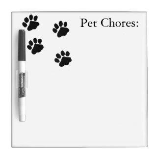 ペット雑用 ホワイトボード