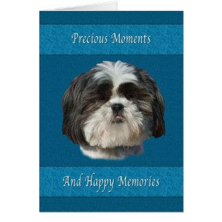 ペット、シーズー(犬)のTzu犬の損失の悔やみや弔慰 カード