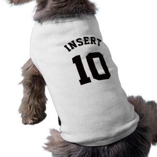 ペット スポーツのジャージーの白く及び黒いデザイン ペット服