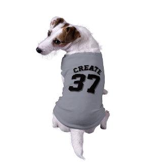 ペット 犬のスポーツのジャージーの灰色及び黒いデザイン ペット服