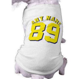 ペット 犬のスポーツのジャージーの白く及び黄色デザイン ペット服