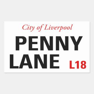 ペニーの車線の印(4)パック 長方形シール
