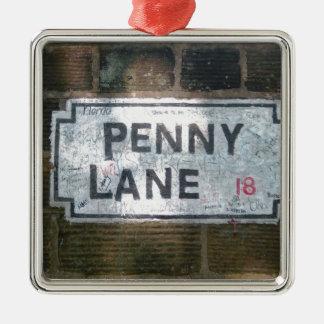 ペニーの車線の道路標識、リヴァプールイギリス メタルオーナメント