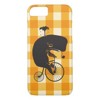 ペニーのFarthingのバイクに乗っているクジラ iPhone 8/7ケース
