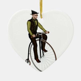 ペニーのFarthingの自転車 セラミックオーナメント