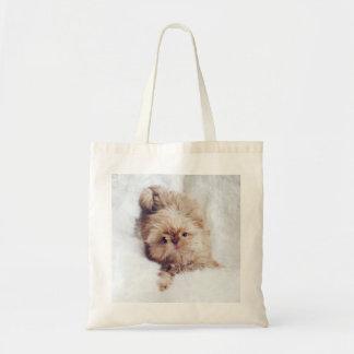 ペニーオレンジレバーシーズー(犬)のTzuの子犬の戦闘状況表示板 トートバッグ