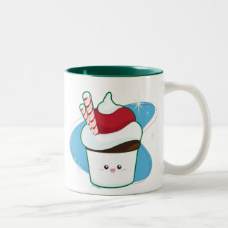 ペパーミントのカップケーキ ツートーンマグカップ
