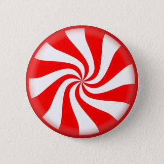 ペパーミントの渦巻キャンデー 5.7CM 丸型バッジ