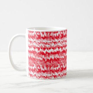ペパーミントの渦巻11のozの赤く、ピンク白いマグ コーヒーマグカップ