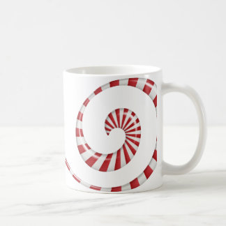 ペパーミントの渦巻 コーヒーマグカップ