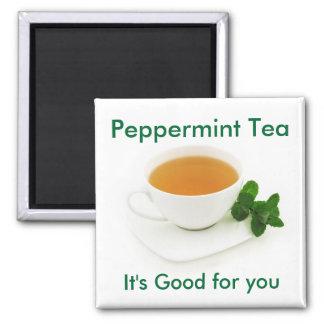 ペパーミントの茶磁石 マグネット