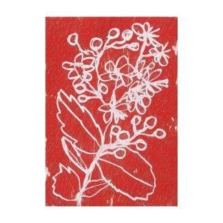 ペパーミントの開花 キャンバスプリント