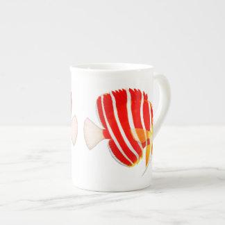 ペパーミントのAngelfishの骨灰磁器のマグ ボーンチャイナカップ