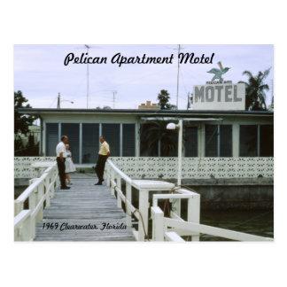 ペリカンのアパートのモーテルのフロリダの郵便はがき ポストカード