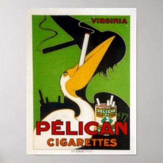 ペリカンのタバコ ポスター