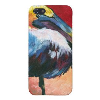 ペリカンの色彩の鮮やかなiphoneの場合 iPhone 5 カバー