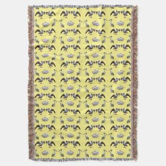 ペリカンの逆上のブランケット(黄色) スローブランケット