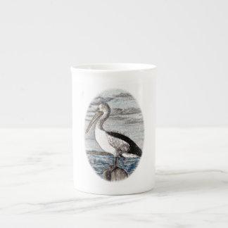 ペリカンの骨灰磁器のマグ ボーンチャイナカップ
